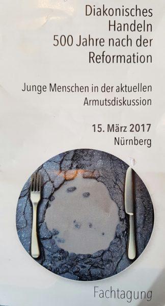 """Flyer der ejsa-Fachtagung """"Junge Menschen in der aktuellen Armutsdiskussion"""""""