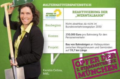 """Fotomontage zum """"alternativen Spatenstich"""""""