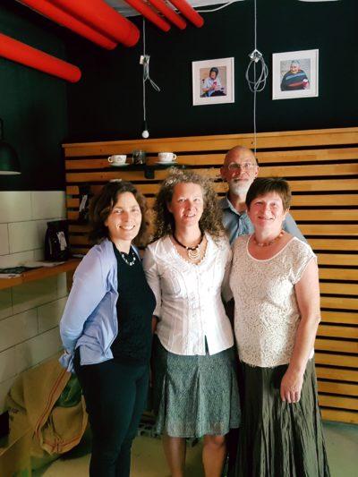 v.l.n.r.: Kerstin Celina, Yvonne Rösl, Einrichtungsleiter Uwe Niederlich  und Gabi Bayer.