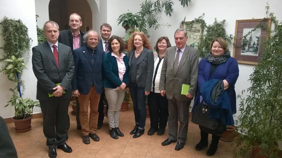 Gesprächstermin mit dem Demokratischen Forum in Rumänien. Erneut mit den anderen Landtagsabgeordneten Thomas Mütze, Uli Leiner, Margarete Bause und Christine Kamm.