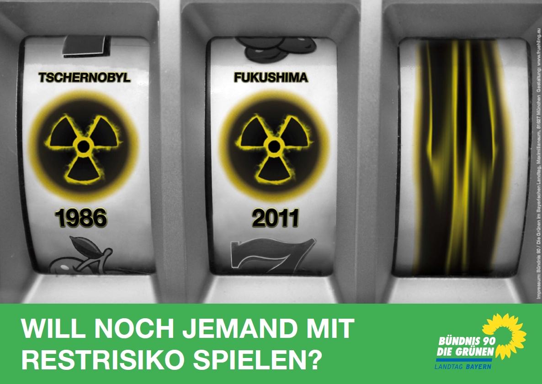 Plakat zum Jahrestag des Fukushima-Unglücks.