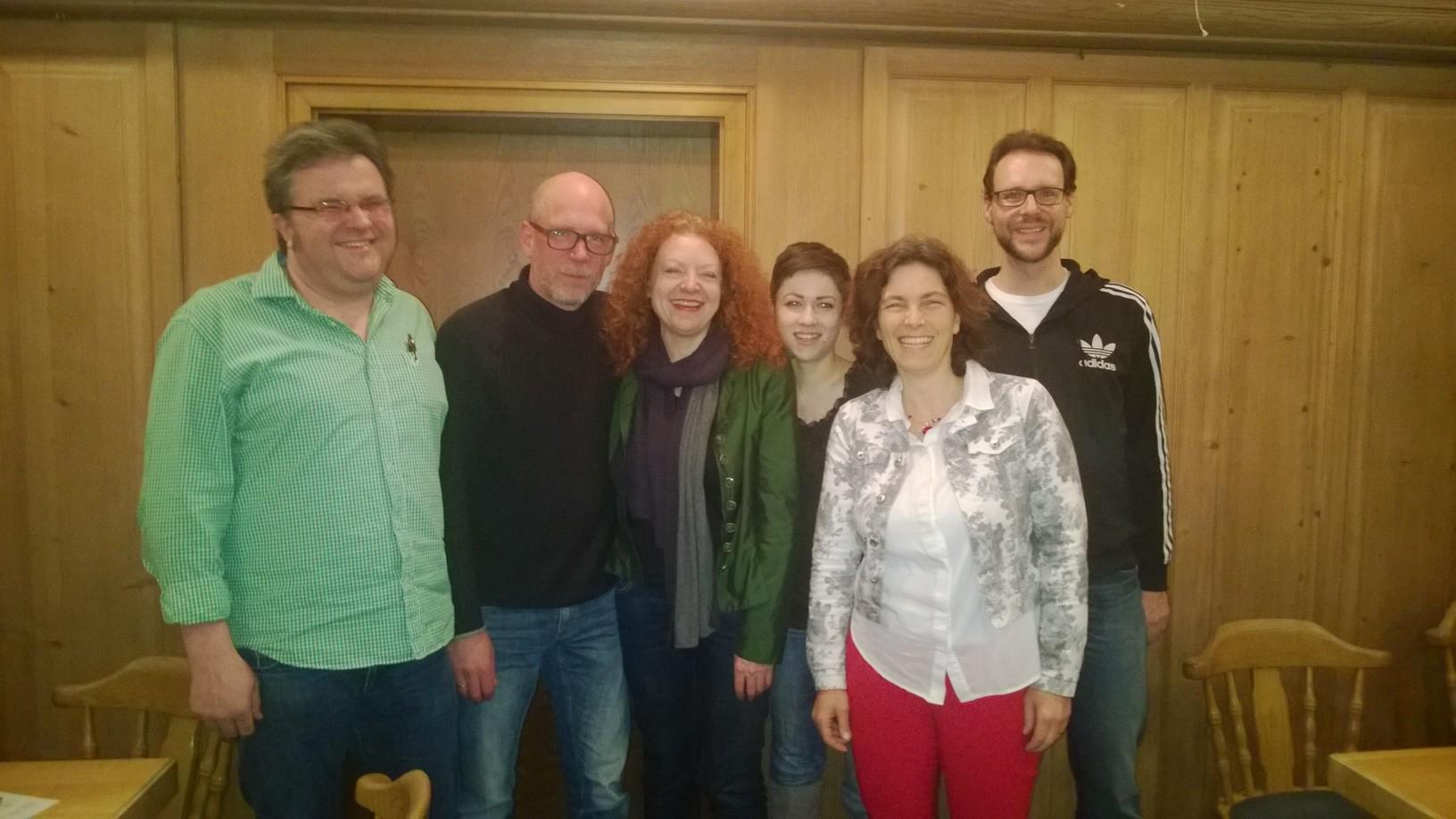 Schafkopfabend zusammen mit der Fraktionsvorsitzenden Margarete Bause, Gerhard Müller, Kreisräten und Gemeinderäten.