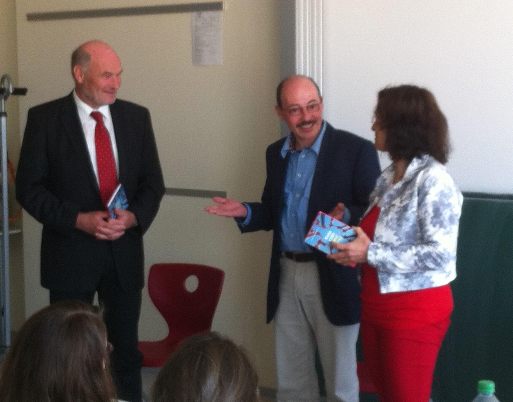 Kerstin Celina mit Eberhard Nuß (li.) und Harald Retsch