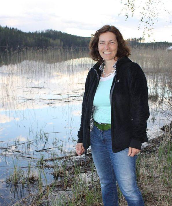 Kerstin Celina in Finnland.