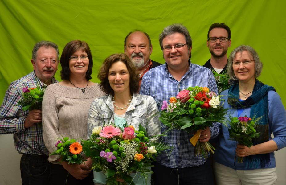 v.l.n.r.: Fred Stahl, Karen Heußner, Kerstrin Celina, Christoph Trautner, Gerhard Müller, Sven Winzenhörlein, Britta Huber.