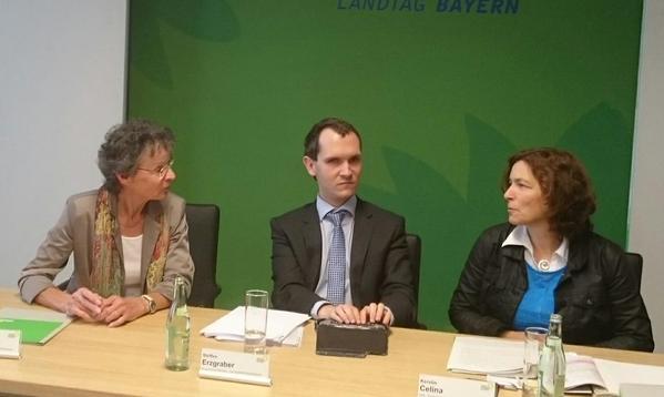 Pressekonferenz von Kerstin Celina mit Herrn Erzgraber, BBSB und Frau Dr. Frederici.