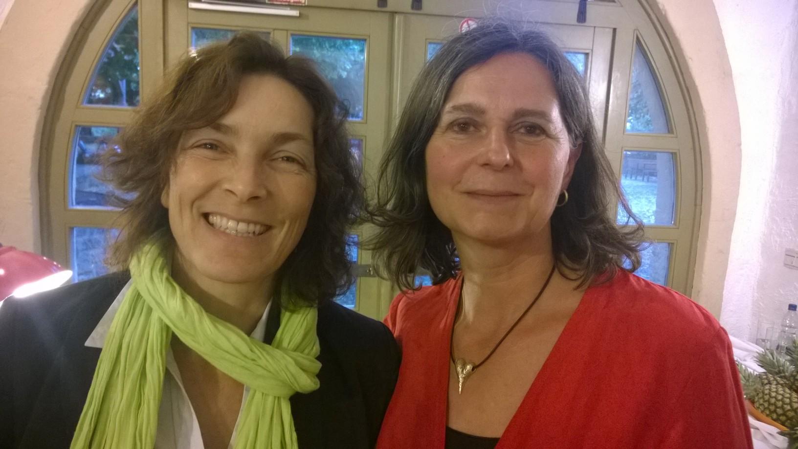 Kerstin Celina und Birgid Röder, Kreisrätin.