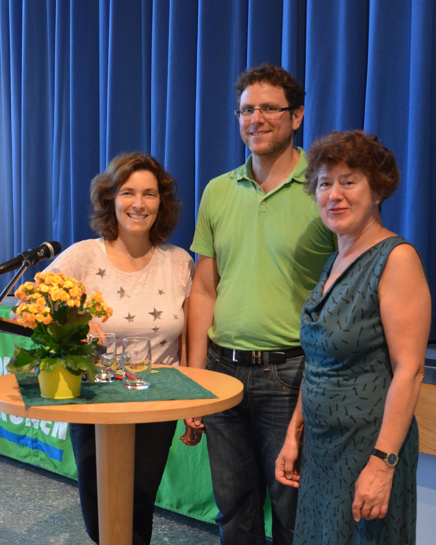 Kerstin Celina mit Christa Grötsch und Martin Heilig bei Veranstaltung zu Cannabis.