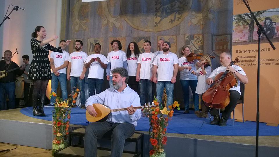 Chorauftritt während der Verleihung des Bürgerpreises.