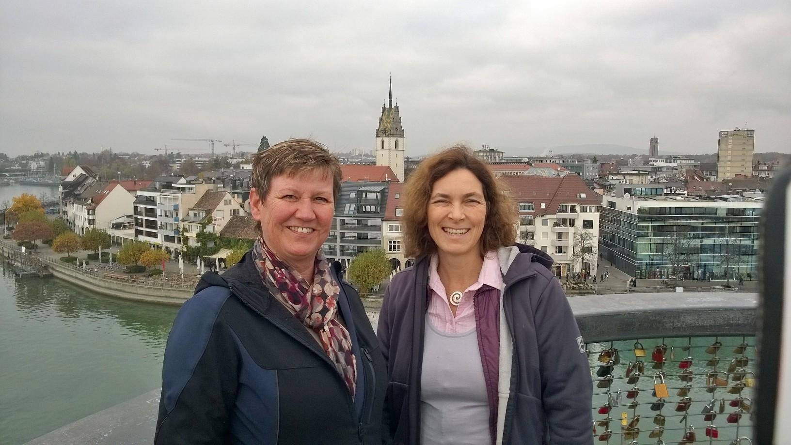 Auf dem Bild mit Bärbel Imhof, Bezirksrätin aus MainSpessart.