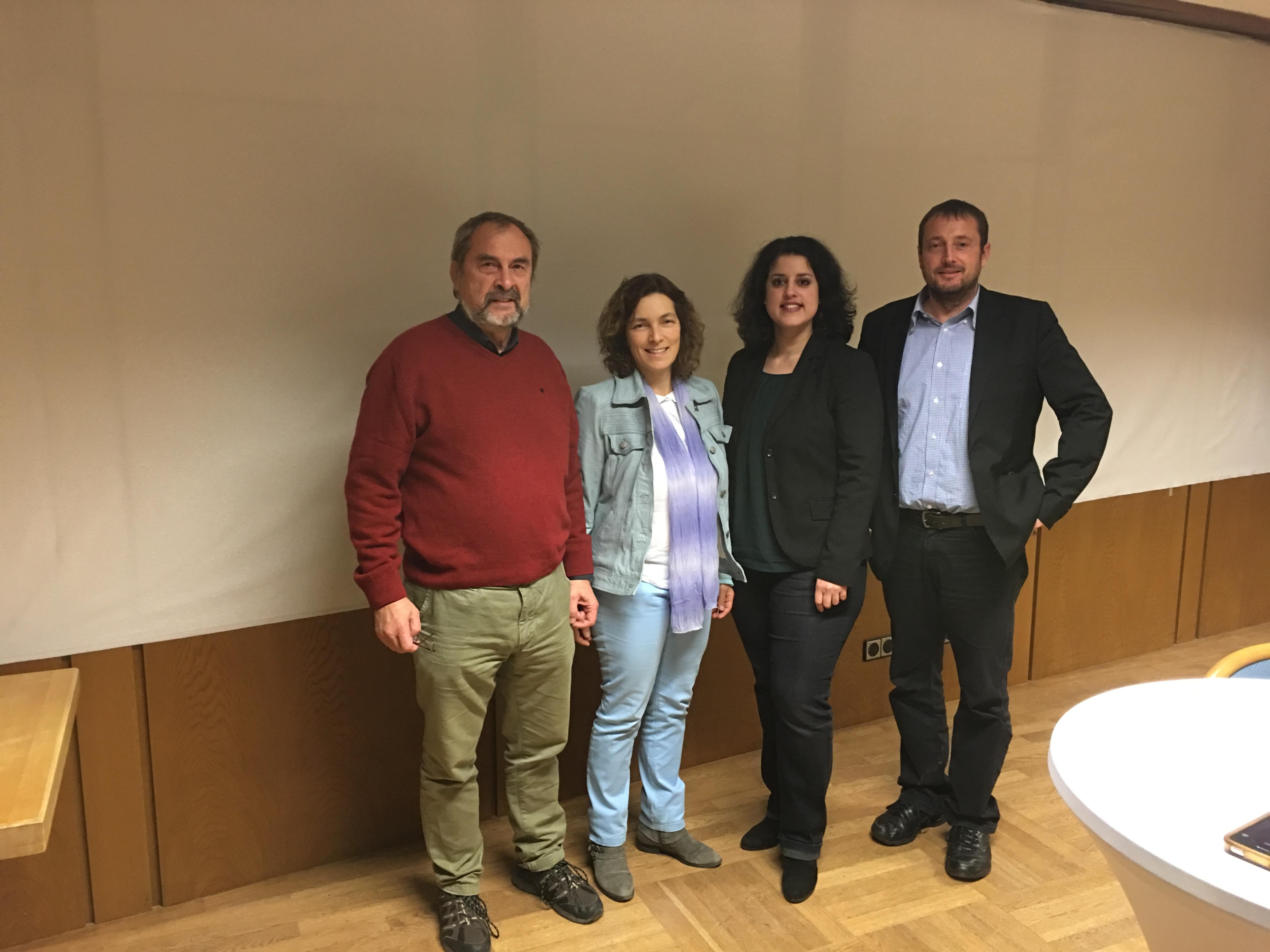 Von links nach rechts: Walter Feineis, Kerstin Celina, Homaira Mansury, Norbert Zirnsack