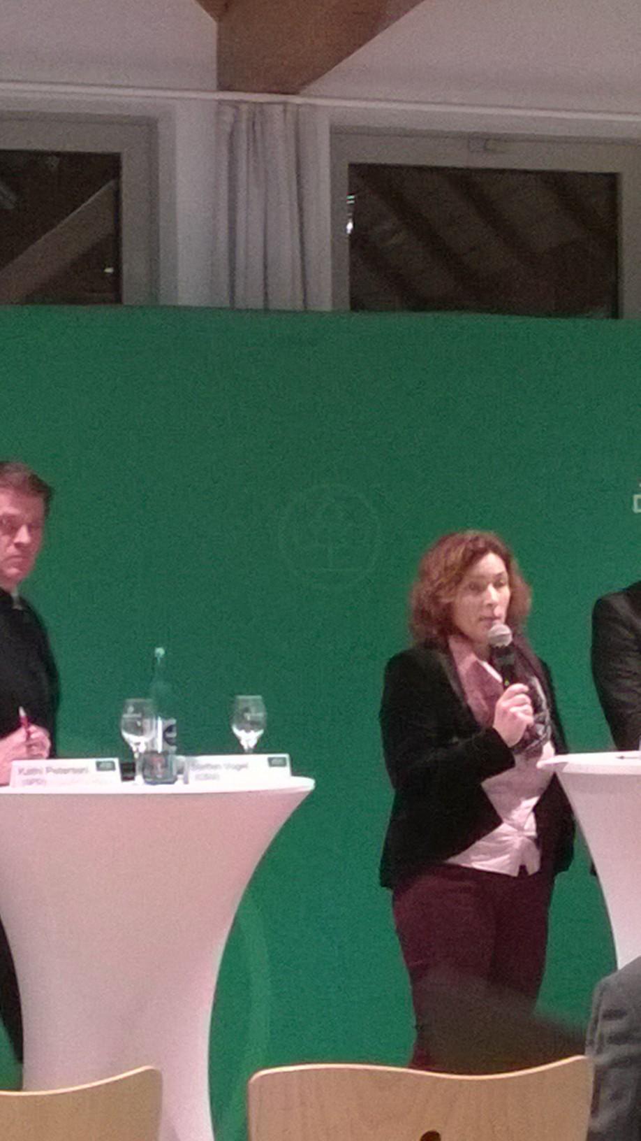Kerstin Celina bei einer von der AOK organisierten Podiumsdiskussion.