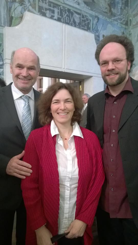 Beim Neujahrsempfang zusammen mit Landrat Eberhard Nuss und Patrick Friedl.