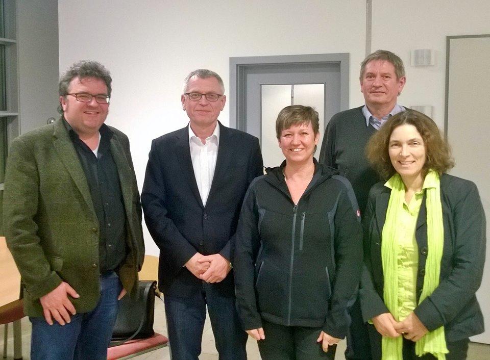 Fachgespräch zum Thema Maßregelvollzug mit den beiden Bezirksräten Gerhard Müller und Bärbel Imhof, sowie Direktor Prof. Vol und Dr. Schaumann.