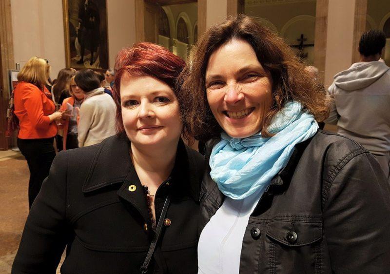 Kerstin Celina und Verena Osgyan.