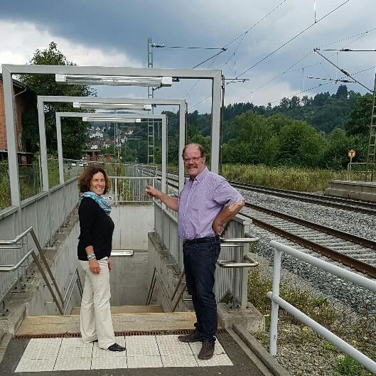 Kerstin Celina mit Wolfgang Küber, Bürgermeister von Rieneck