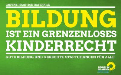 Bildungskampagne der Grünen Fraktion Bayern