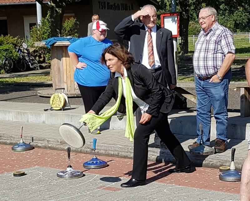 Kerstin Celina bei der Vinzenzpreisverleihung.