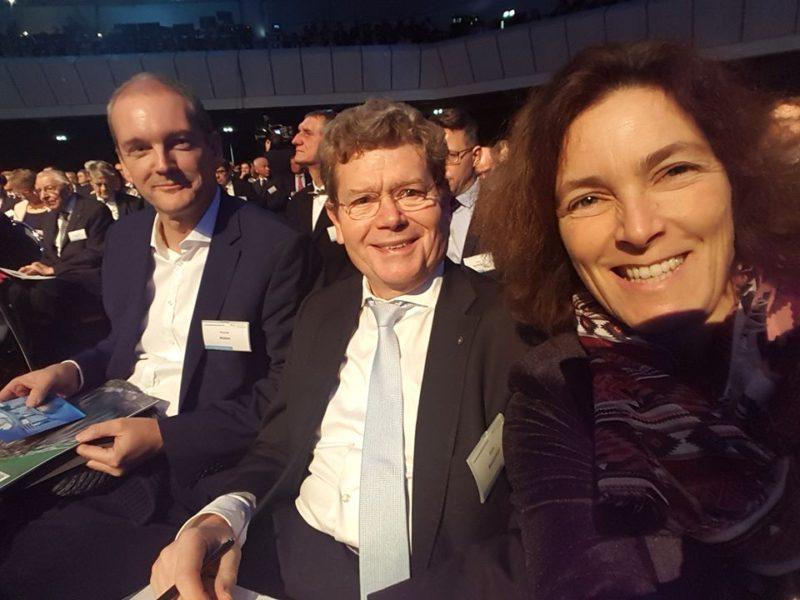 Kerstin Celina mit Georg Rosenthal und Thomas Mütze.