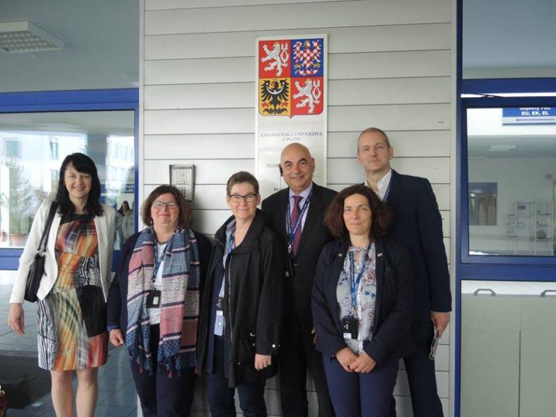 Grüne Delegation zu Besuch an der Westböhmischen Universität.