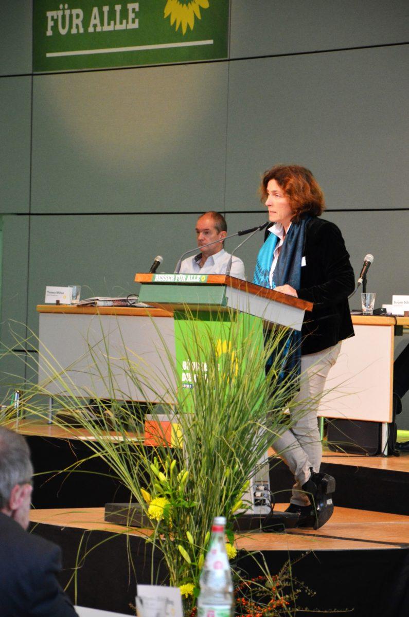 Kerstin Celina während ihrer Rede auf der LDK 2016.