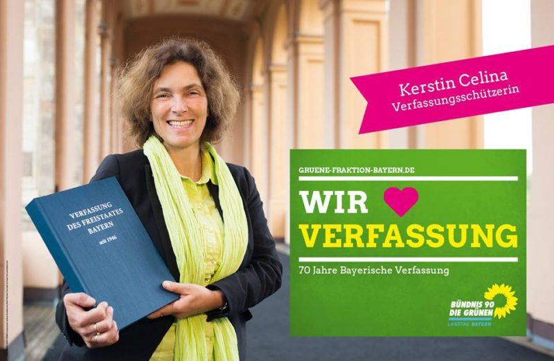 Kerstin Celina zum 70-jährigen Bestehen der Bayerischen Verfassung.