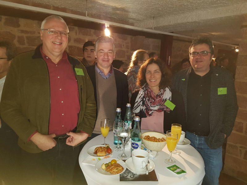 Beim Neujahresempfang der Grünen in Miltenberg, zusammen mit Gerhard Kraft und Gerhard Müller.