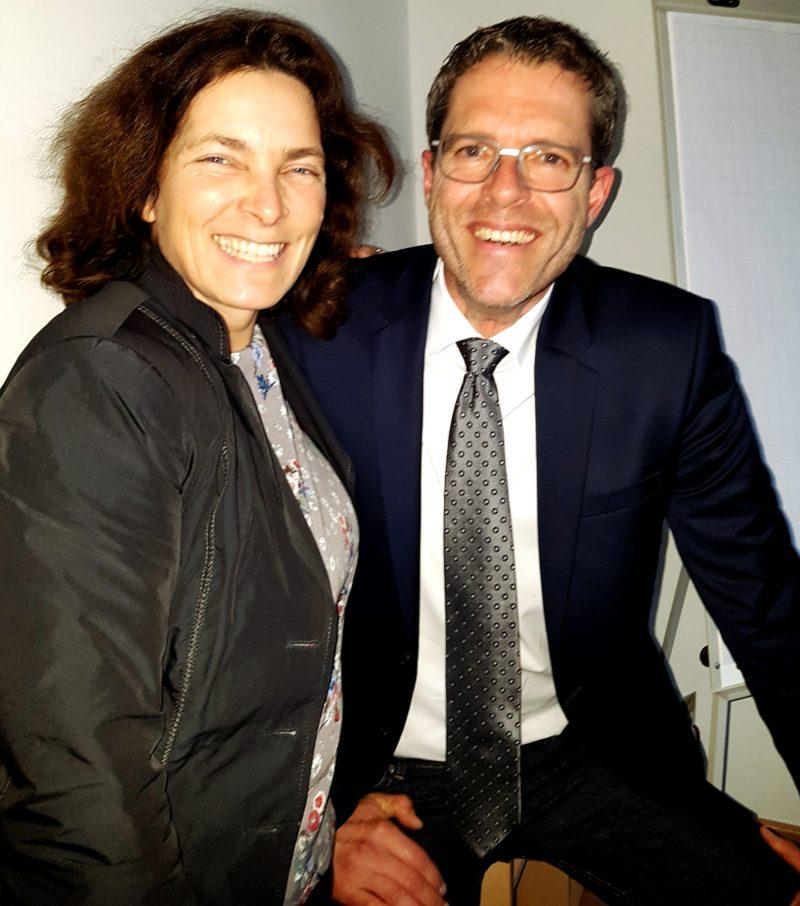 Kerstin Celina mit Dr. Wolfgang Blank.