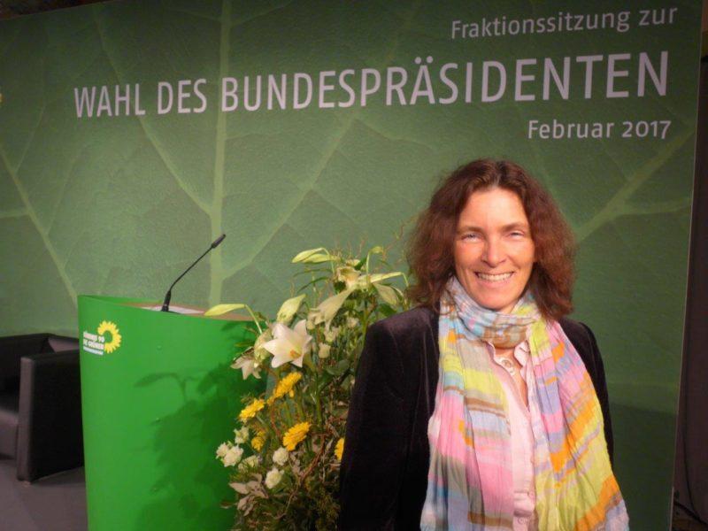 Kerstin Celina während der Bundesversammlung zur Wahl des Bundespräsidenten.