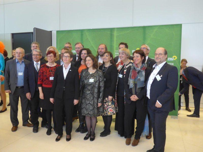 Gruppenfoto der Grünen Mitglieder der Bundesversammlung.