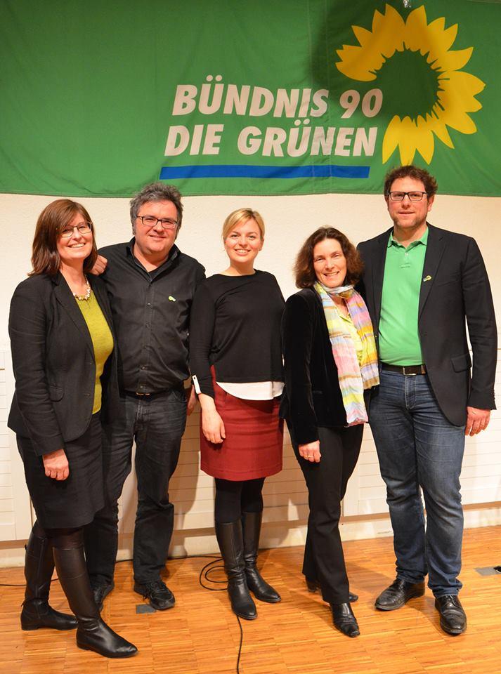 v.l.n.r.: Karen Heußner, Gerhard Müller, Katharina Schulze, Kerstin Celina und Martin Heilig.