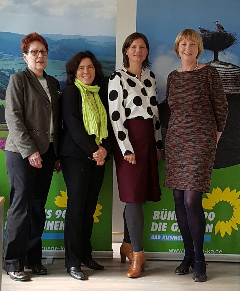 Monika Horcher, stellvertretende Landrätin, Kerstin Celina, Manuela Rottmann, Annemarie Fell.