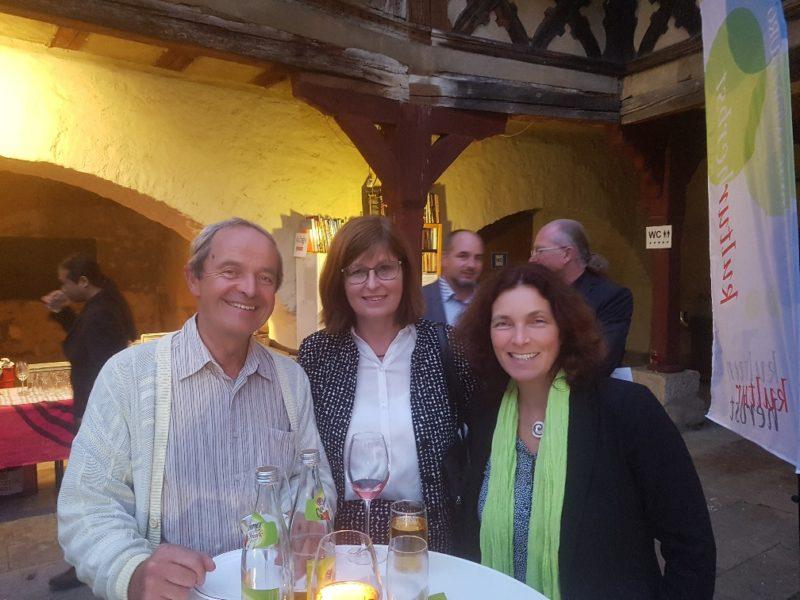 Kerstin Celina mit Karen Heußner beim diesjährigen Kulturherbst.