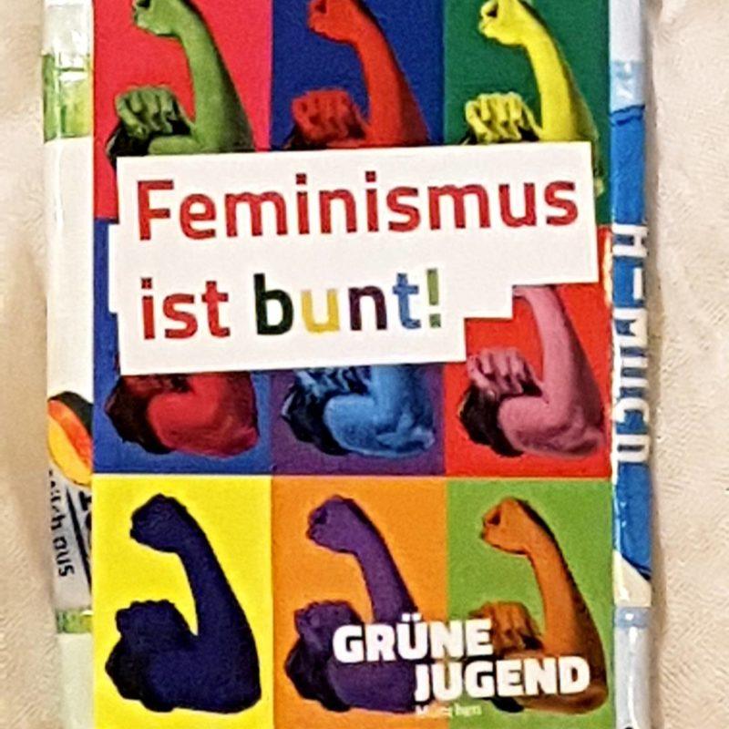 Feministischer Recycling-Geldbeutel.