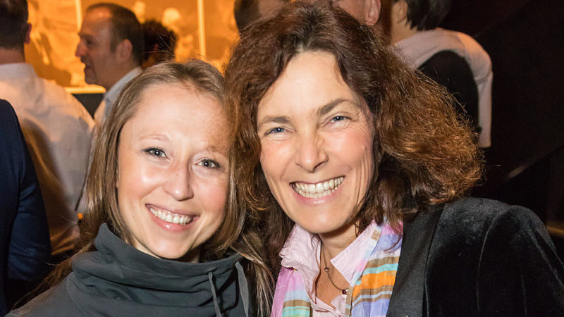 Shiloe Mokay und Kerstin Celina auf der Würzburger Rosa-Hilfe-Gala.