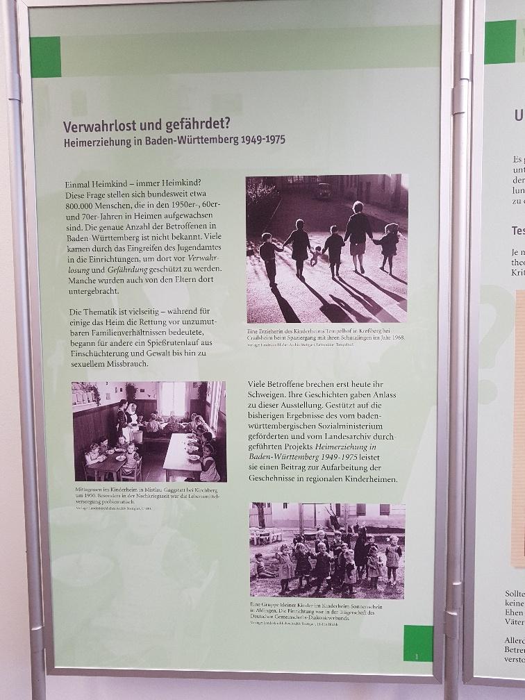 """Plakat der Wanderausstellung """"Verwahrlost und gefährdet? Heimerziehung in Baden-Württemberg 1949-1975"""""""