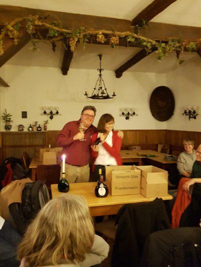 Gerhard Müller und Karen Heußner bei der Grünen Nikolausfeier.