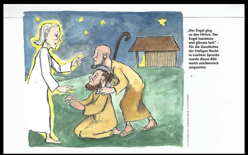 Weihnachtsgeschichte in leichter Sprache.