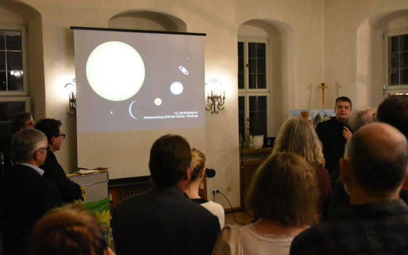 Vortrag von Pater Christoph Gerhard während des Neujahrsempfangs.