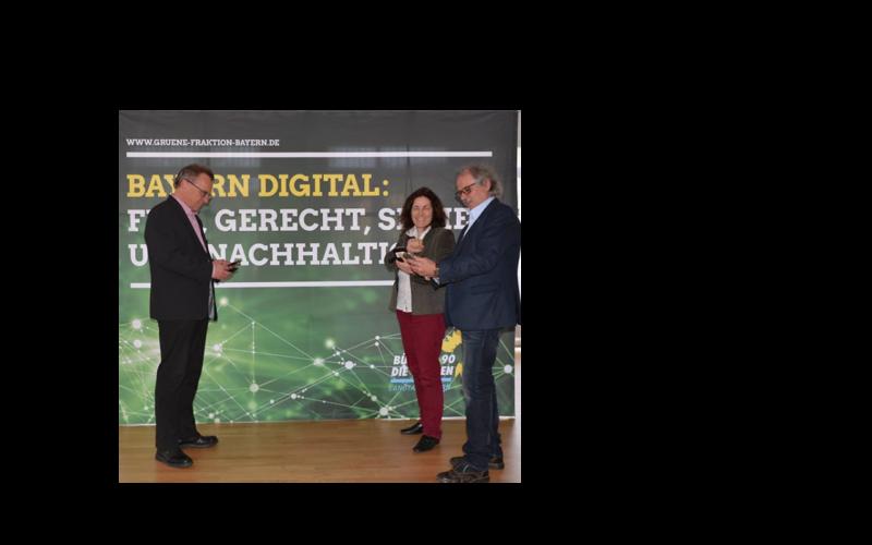 Fraktionsklausur der bayerischen Grünen Landtagsfraktion zum Thema Digitalisierung.
