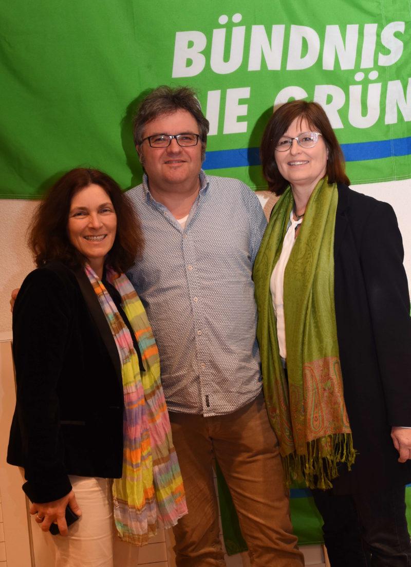 Kerstin Celina, Gerhard Müller und Karen Heußner beim Politischen Aschermittwoch 2018.
