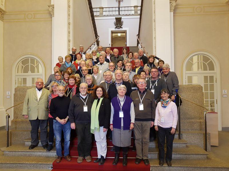 Besucher_innengruppe im Bayerischen Landtag.