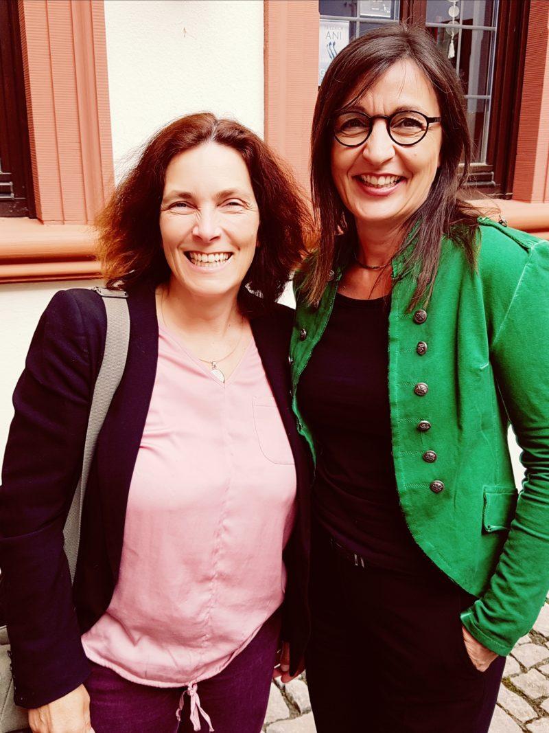 Kerstin Celina mit Barbara Becker, CSU.