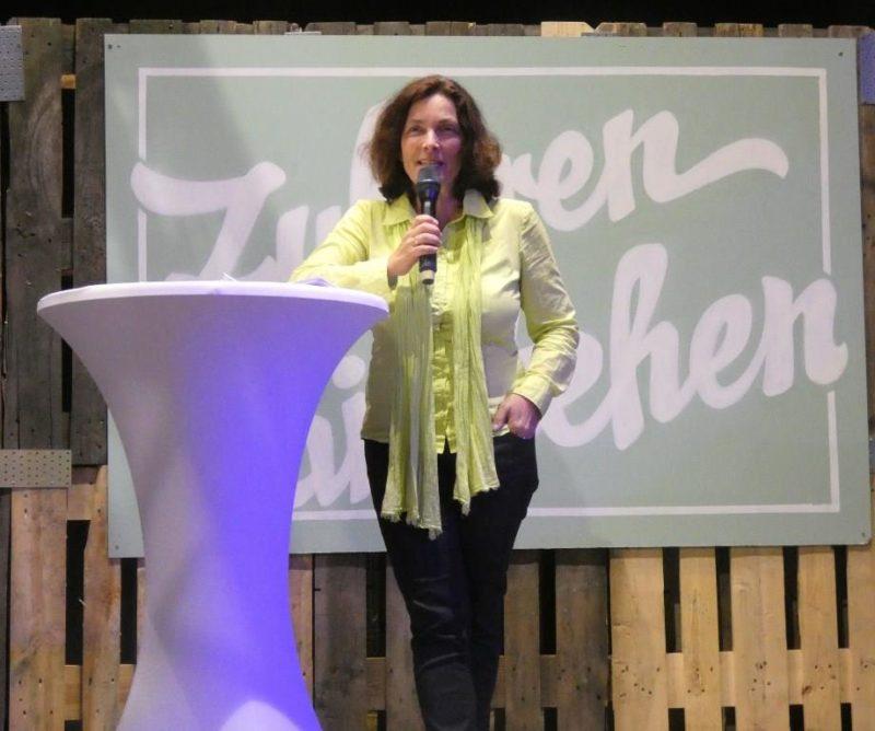 Kerstin Celina während ihres Vortrags auf der Würzburger Green Fair Messe.