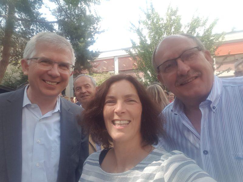 Kerstin Celina mit Andrew Ullmann und Florian Kuhl.