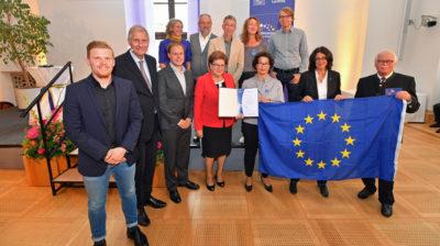 """Der 1. Preis wurde an """"Pulse of Europe"""" verliehen. Foto: Bildarchiv Bayerischer Landtag."""