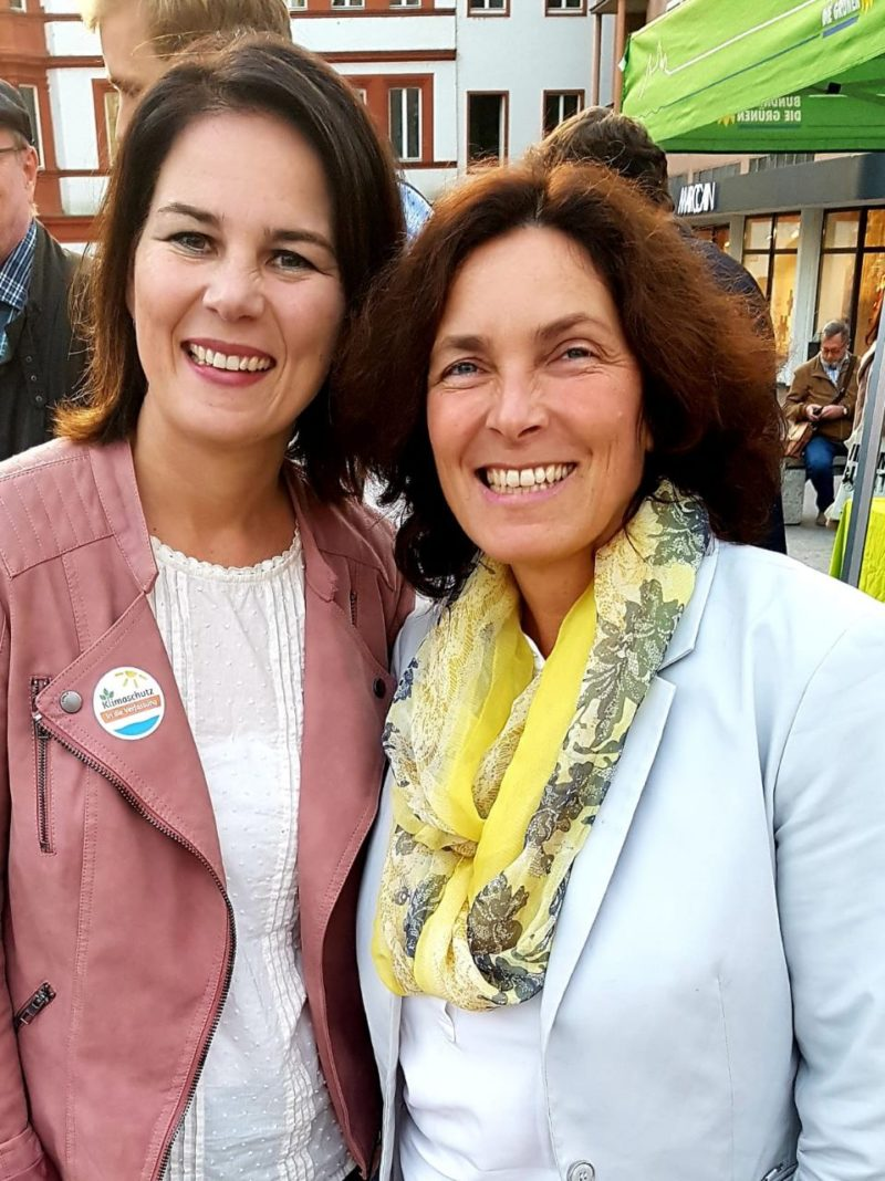 Kerstin Celina mit Annalena Baerbock.
