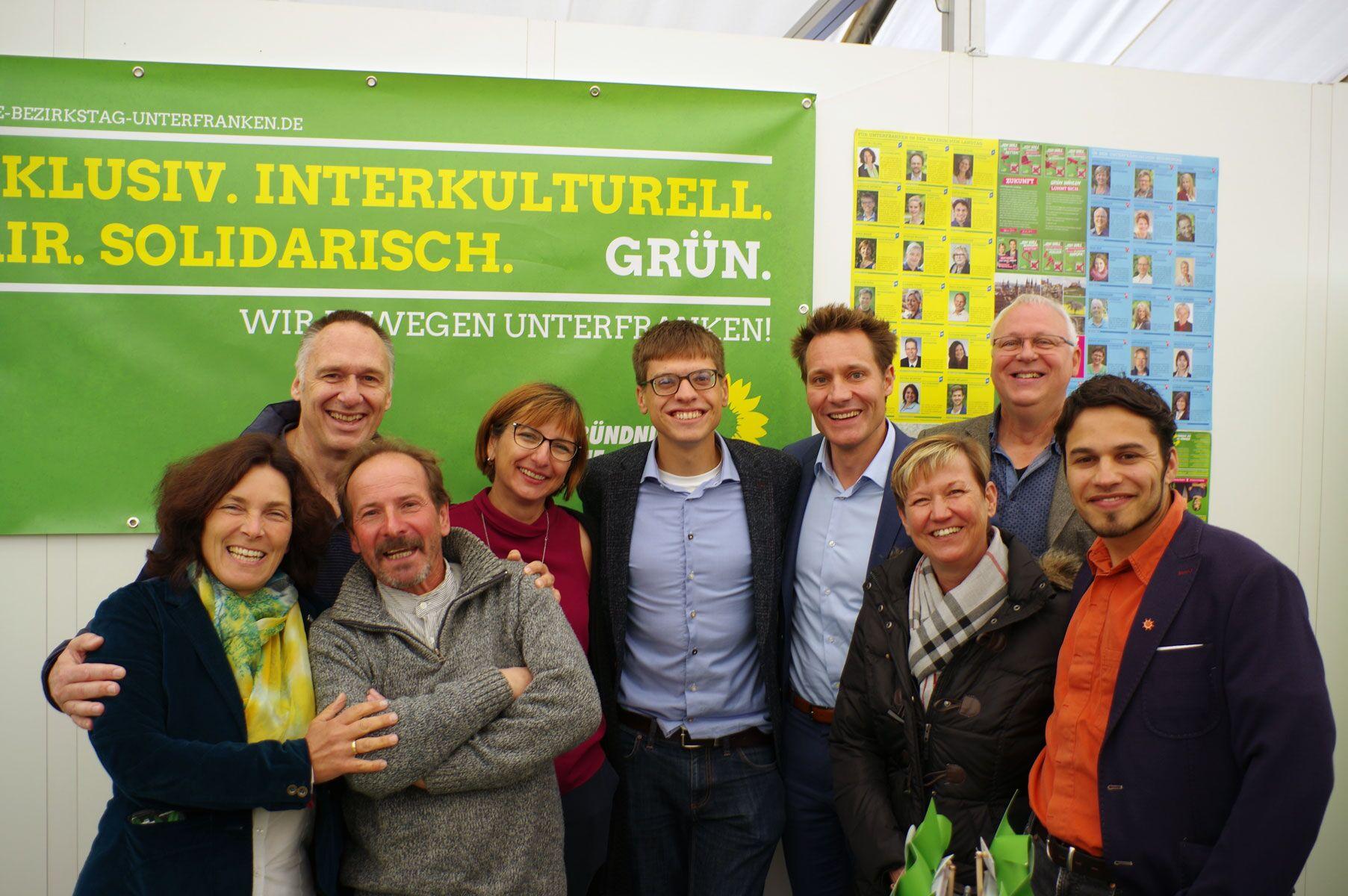 Grüne Kandidat*innen auf der diesjährigen MSP Expo.