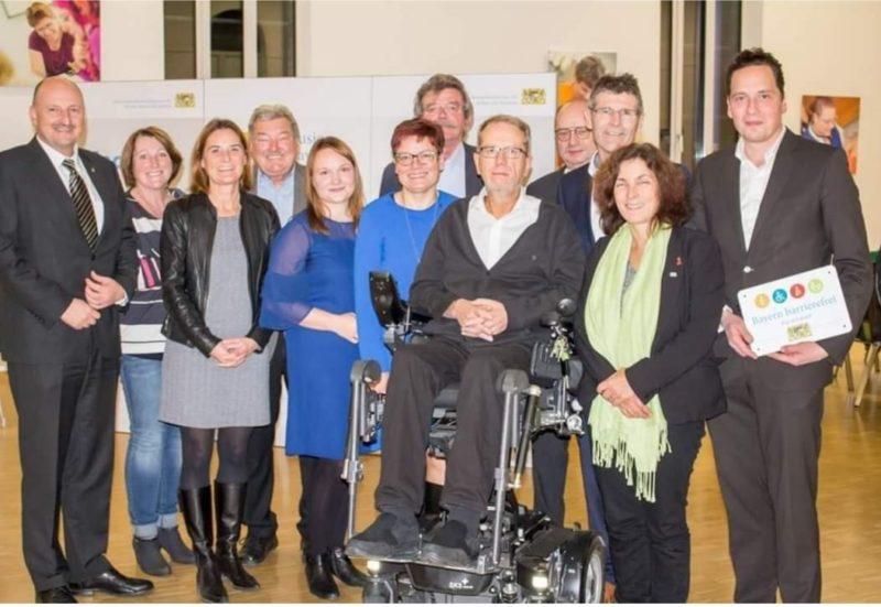 """Eröffnung der Wanderausstellung """"Inklusion in Bayern"""". Foto: Elena Reinhard."""