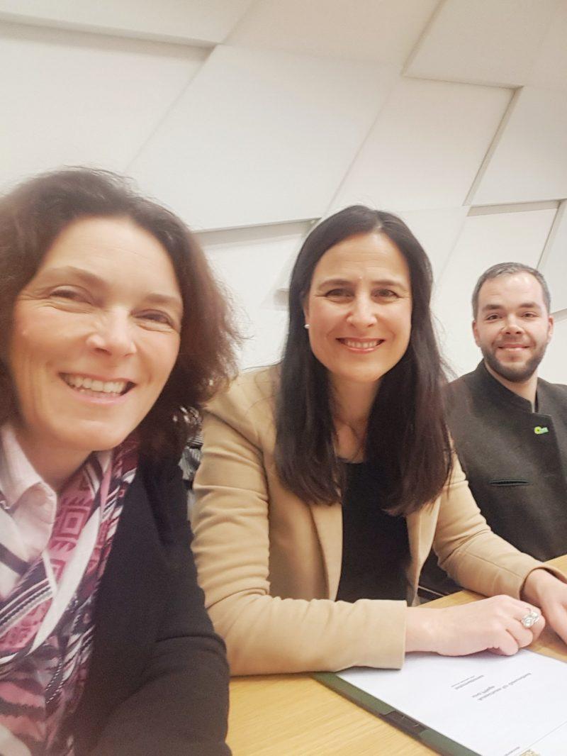 Kerstin Celina, Christina Haubrich und Andreas Krahl im Ausschuss für Soziales und Arbeit, Jugend und Familie.